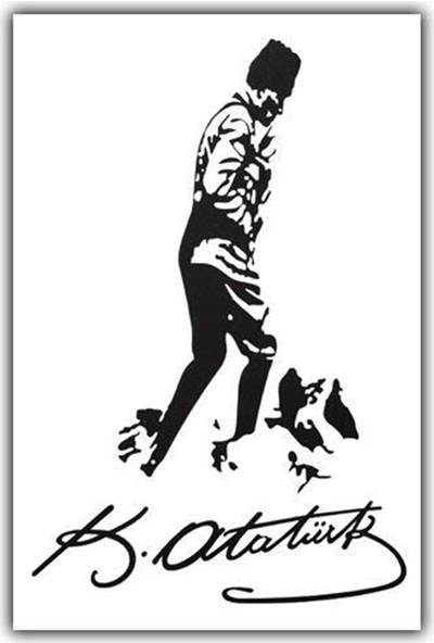 Nettedarikcisi Ozy Atatürk İmza Yazı Araba Oto Sticker ( 17Cm * 27Cm )