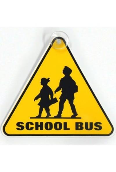 Nettedarikcisi Ozy School Bus Üçgen Pleksi Yazı Arma ( 14Cm * 14Cm )