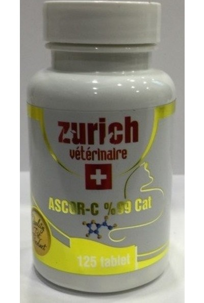 Zurich Ascor-C %99 Cat 125 Tablet