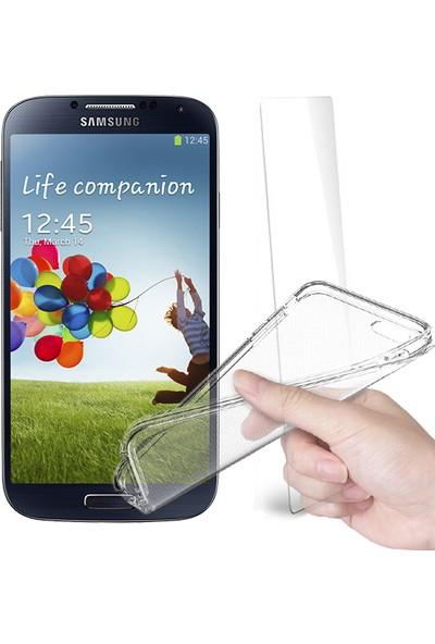 Fuqqa Samsung Galaxy S4 Ekran Koruyucu + Şeffaf Silikon Kılıf
