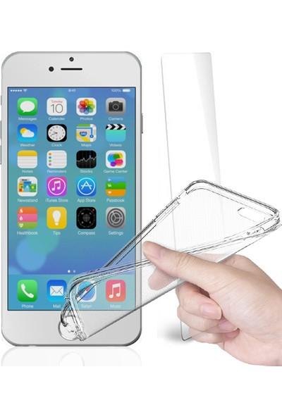Fuqqa Apple İphone 6 Ekran Koruyucu + Şeffaf Silikon Kılıf