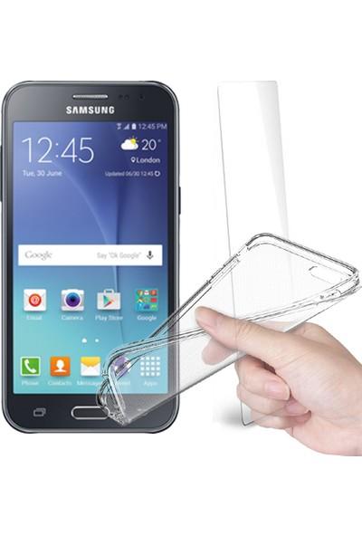 Fuqqa Samsung Galaxy J2 Ekran Koruyucu Filmi + Silikon Kılıf