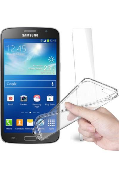 Fuqqa Samsung Galaxy Grand 2 Ekran Koruyucu + Şeffaf Silikon Kılıf