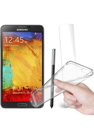 Fuqqa Samsung Galaxy Note 3 Ekran Koruyucu + Şeffaf Silikon Kılıf