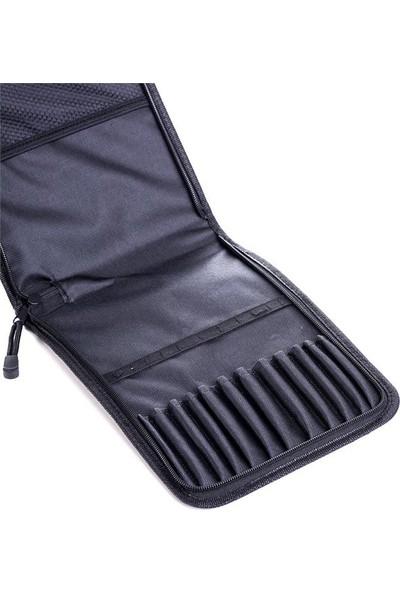 İdora Fermuarlı Fırça Çantası - Kumaş - 12 Fırçalık