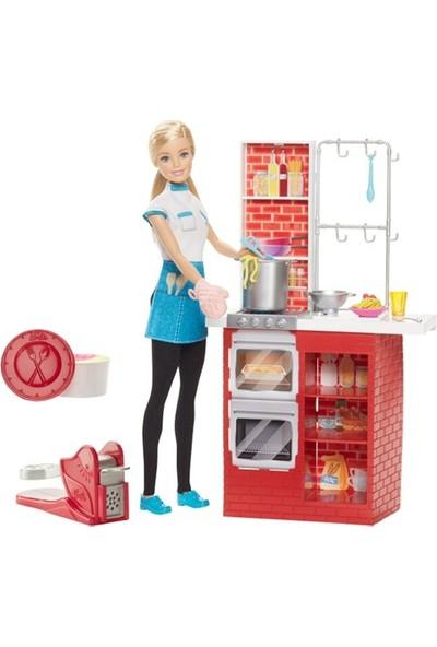 Barbie Makarna Şefi Ve Mutfak Oyun Seti