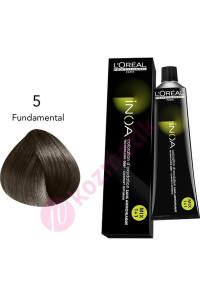 L'Oréal Professionnel İnoa Amonyaksız Saç Boyası No: 5 Fundamental 60Ml.