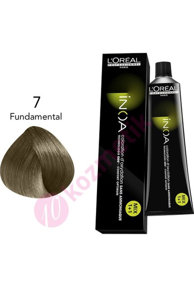 Loreal İnoa Amonyaksız Saç Boyası No: 7 Fundamental 60Ml.