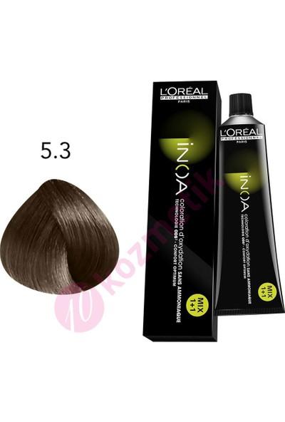 L'Oréal Professionnel İnoa Amonyaksız Saç Boyası No: 5.3 60Ml.