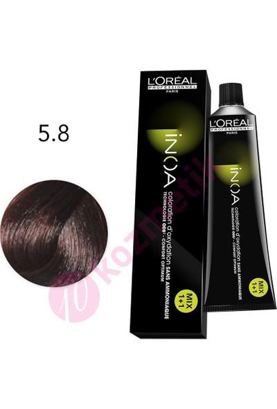 L'Oréal Professionnel İnoa Amonyaksız Saç Boyası No: 5.8 60Ml.