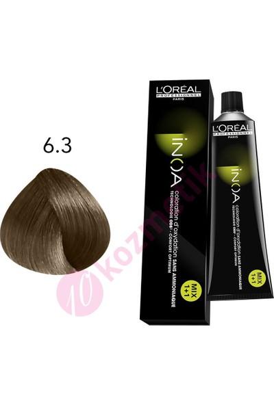 L'Oréal Professionnel İnoa Amonyaksız Saç Boyası No: 6.3 60Ml.