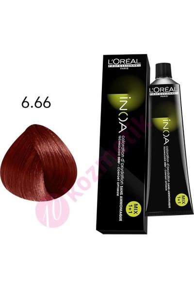 L'Oréal Professionnel İnoa Amonyaksız Saç Boyası No: C6.66 60Ml.
