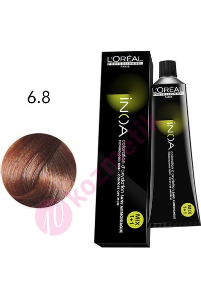 L'Oréal Professionnel İnoa Amonyaksız Saç Boyası No: 6.8 60Ml.