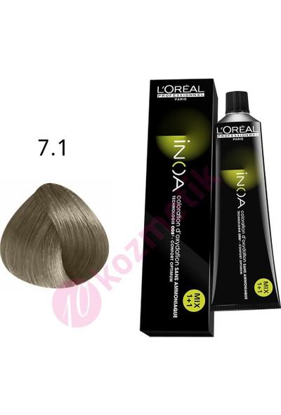 Loreal İnoa Amonyaksız Saç Boyası No: 7.1 60Ml.