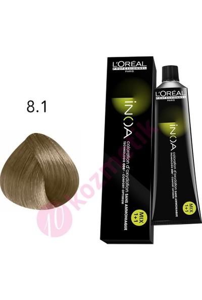 Loreal İnoa Amonyaksız Saç Boyası No: 8.1 60Ml.