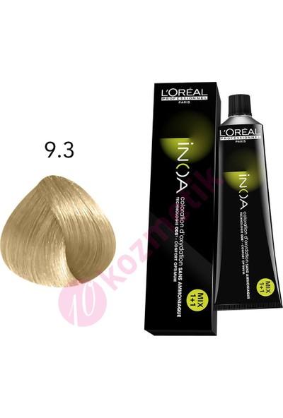 L'Oréal Professionnel İnoa Amonyaksız Saç Boyası No: 9.3 60Ml.