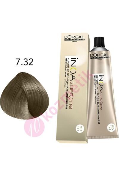 L'Oréal Professionnel İnoa Supreme 7.32 Kumral Dore İrize Amonyaksız Saç Boyası 60Ml