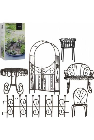 Greenmall Mini Bahçe / Terraryum Mobilya Seti 10 Parça