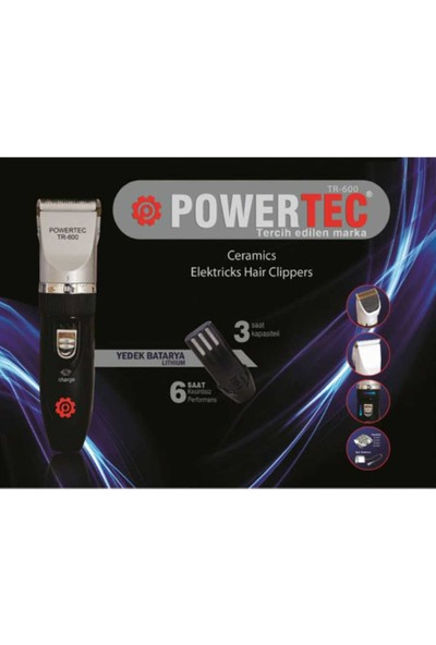 Powertec Tr600 Şarjlı Tıraş Makinesi