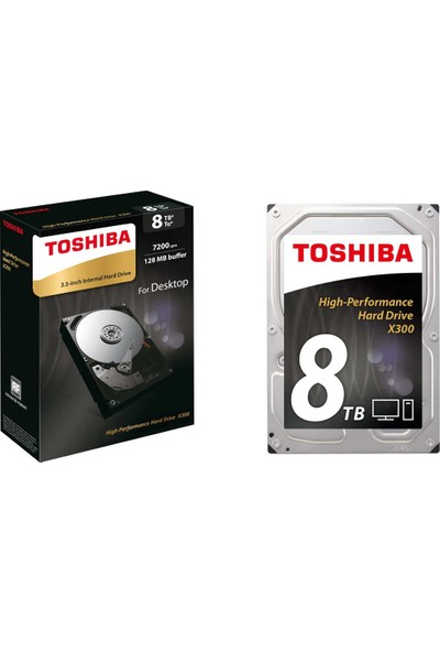 Toshiba X300 8TB 7200PRM 3.5 128MB Cache Sabit Disk HDWF180EZSTA