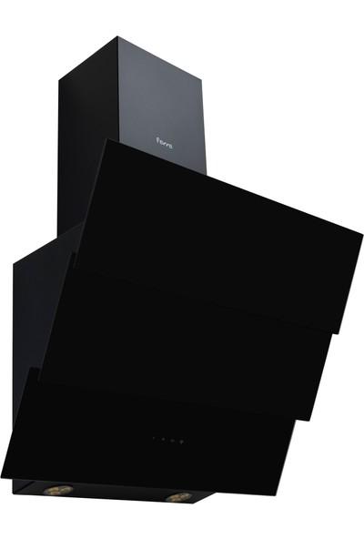FR S ELİT 600 (Ferre Siyah Yatık Cam Davlumbaz )