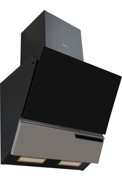 FR S MRC 600 (Ferre Siyah Yatık Cam Davlumbaz)