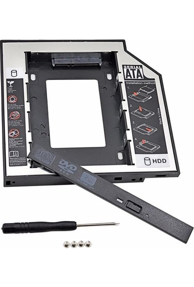 Alfais 4716 9.5mm Sata Hdd Harddisk Caddy Kızak Kutu Laptop Ssd Notebook İkinci Hdd Takma