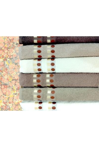 Nurpak Tekstil 12Li Nurpak Dora %100 Pamuk El Havlusu Kahve