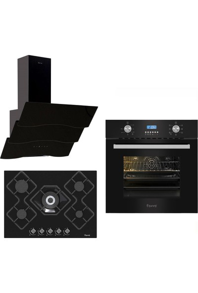 Ferre Black Pruza Ankastre Set ( 7002 - KA012 - SSPR 600 )