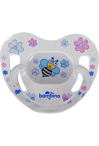 Bambino Desenli Silikon Damak Uçlu Emzik - Arı 0-6 Ay