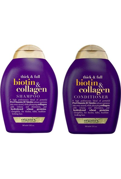 Organix Biotin & Collagen Şampuan Ve Saç Kremi 2'li Set