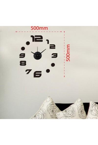 Dıy Clock Yeni Nesil 3D Duvar Saati Mini Model 10