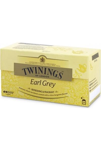 Twinings Earl Grey Poşet Çay - 25'li
