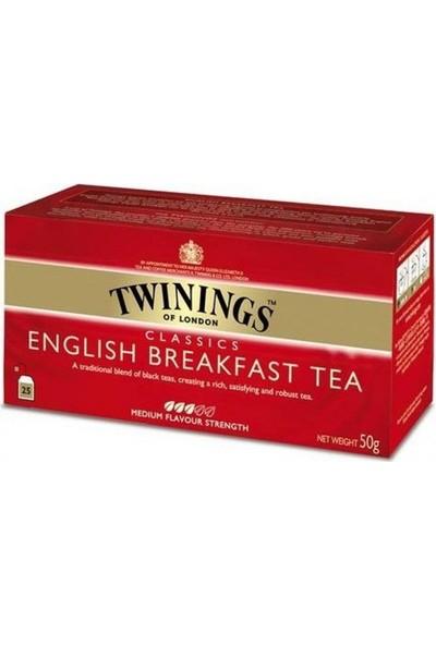 Twinings Poşet Çay - English Breakfast 25'li