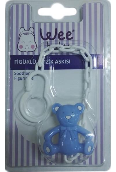 Wee Baby Figürlü Emzik Askısı-Mavi