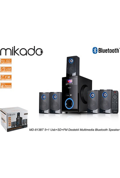 Mikado MD-813BT 5+1 Usb+SD+FM Destekli Multimedia Bluetooth Speaker