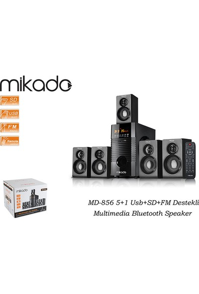 Mikado MD-856 5+1 Usb+SD+FM Destekli Multimedia Bluetooth Speaker