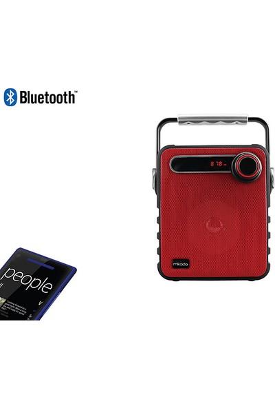 Mikado MD-1437 3W Siyah/Kırmızı Usb-TF-Fm Destekli Bluetooth Taşınabilir Speaker