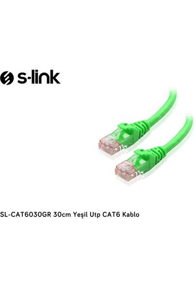 S-link SL-CAT6030GR 30cm Yeşil Utp CAT6 Kablo