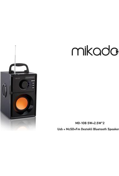 Mikado MD-10B 5W+2.5W*2 Usb + McSD+Fm Destekli Bluetooth Speaker