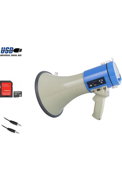 Mikado MDK307MB 25W Max:45W USB/SD MP3 Oynatıcı Megafon