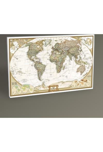 Tablo 360 Dünya Siyasi Haritası Tablo 90X60