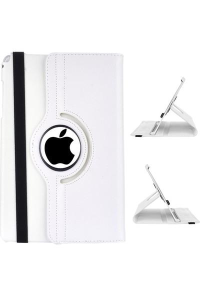 Miray iPad 2 Kılıf 360° Dönerli Kasalı Standlı Kapaklı Kılıf - Beyaz