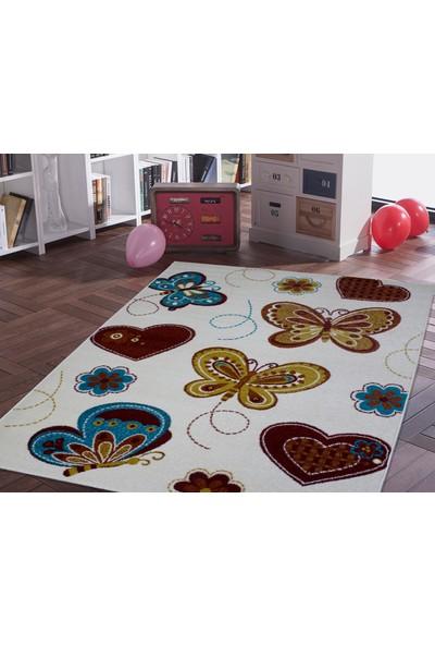 Saray Halı Ela 09 Kelebekli Çocuk Halısı 120x170 cm