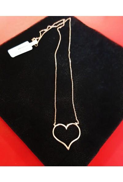 Tyelo Takı, Gümüş Rose Kaplama, Kalp Kolye