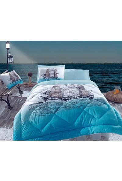 Cotton Box Tek Kişilik Uyku Seti Ship Mavi