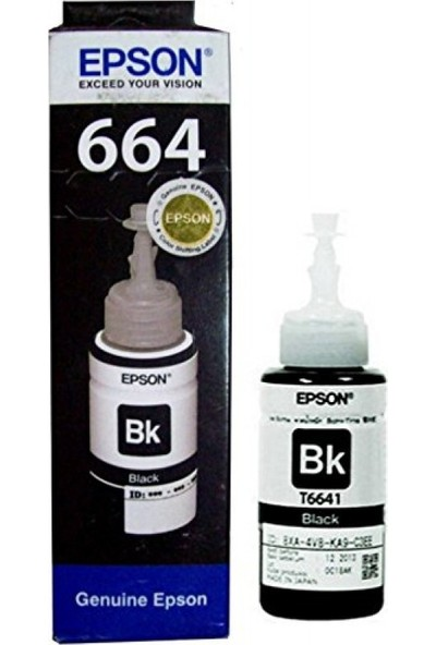 Epson EcoTank L355 Orijinal Siyah Yazıcı Mürekkep Kartuş