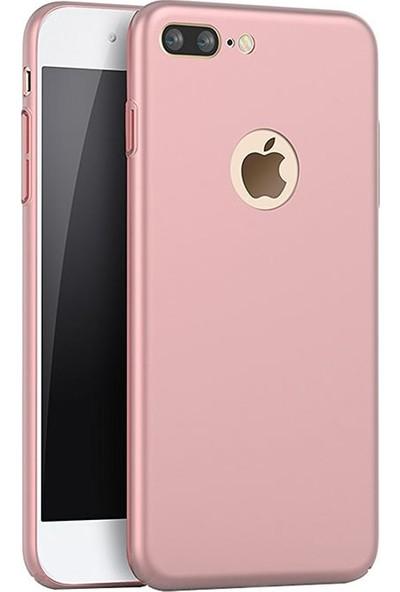 Microcase Apple iPhone 7 Plus Premium Matte Silikon Kılıf+Cam Koruma