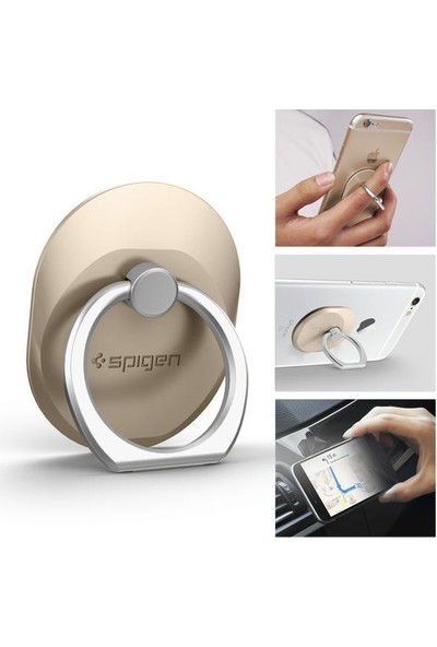 Spigen Telefon Halkası Style Ring Selfie Yüzüğü / Araç Tutacağı - Stand Champagne Gold - 000EP20244
