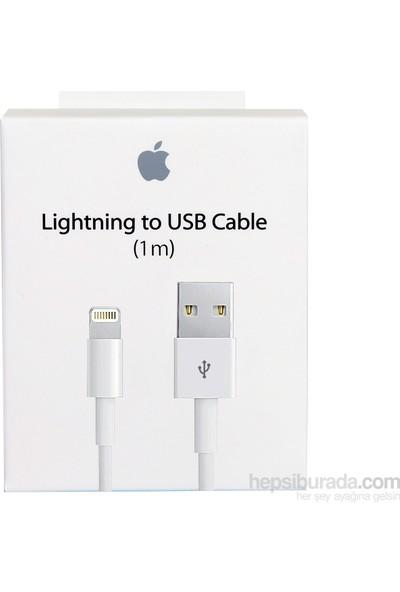 Apple Lightning Şarj ve Data Kablosu (1 Metre) iPhone 5-5S-SE-6-6S-7-8-Plus MD818ZM/A (Apple Türkiye Garantili)